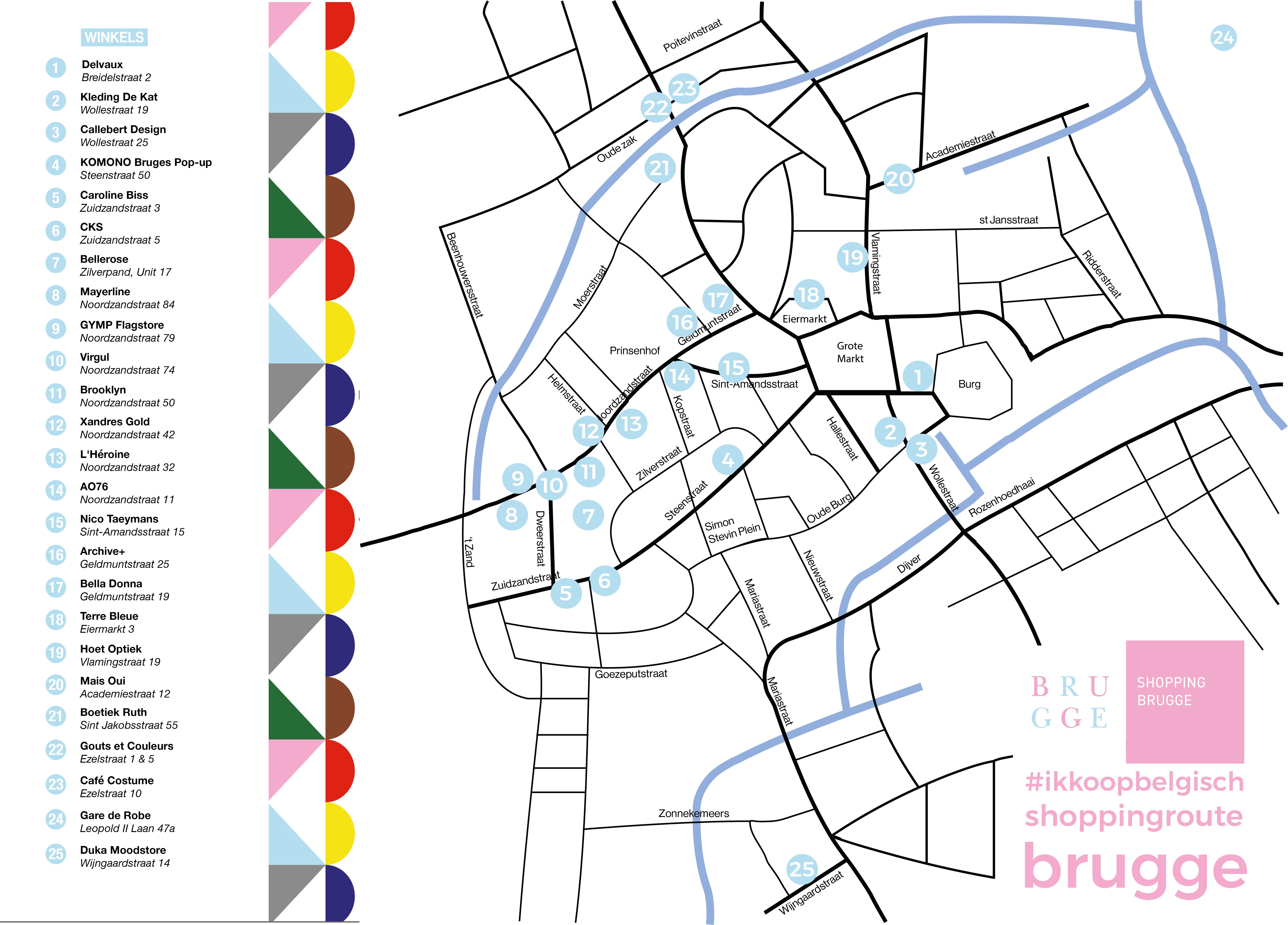 Shoppingroute Brugge Aangepast